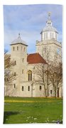 Portsmouth Cathedral At Springtime Beach Towel