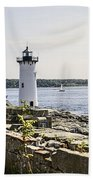Portsmouth Harbor Light Beach Towel
