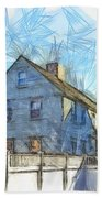 Portsmouth New Hampshire Pencil Beach Towel