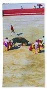 Portuguese Bull Wrestling 4 Beach Towel