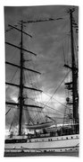Portuguese Tall Ship Beach Towel