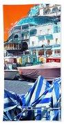 Positano Beach Pop Art Beach Sheet