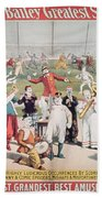 Poster Advertising The Barnum And Bailey Greatest Show On Earth Beach Towel