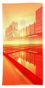 Poster-city 1 Beach Towel