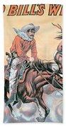 Poster For Buffalo Bill's Wild West Show Beach Towel