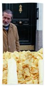 Potato Chip Man Beach Towel