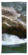 Potomac River Rapids Beach Towel