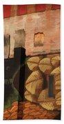 Poughkeepsie Street Art Beach Towel by Nancy De Flon