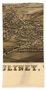 Poultney Vermont Map Vintage Beach Sheet