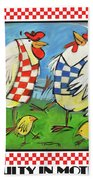 Poultry In Motion Poster Beach Towel