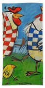 Poultry In Motion Beach Towel