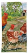 Poultry Peckin Pals Beach Towel