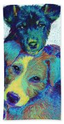Pound Puppies Beach Towel by Jane Schnetlage