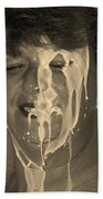 Poured Milk Beach Towel