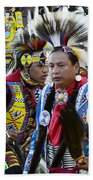 Pow Wow Back In Time 1 Beach Towel