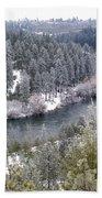 Powdered Spokane River Beach Towel