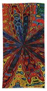 Power Flower Beach Towel