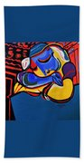 Power Nap  Picasso By Nora Beach Towel
