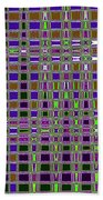 Power Tower And Agave Checkerboard Abstract Beach Towel