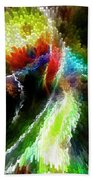 Powwow Dancer Abstract Beach Towel