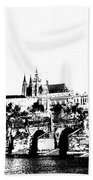 Prague Castle And Charles Bridge Beach Towel