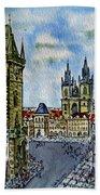 Prague Czech Republic Beach Towel by Irina Sztukowski