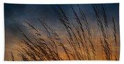 Prairie Grass Sunset Patterns Beach Towel