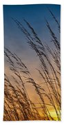 Prairie Grass Sunset Beach Towel