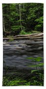 Prairie River Log Jam Beach Towel