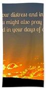 Pray Abundantly Beach Towel