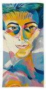 Preciada Azancot Self-portrait With A Dove Beach Towel