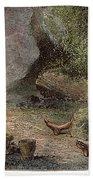 Prehistoric Man: Pottery Beach Towel