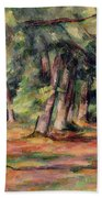 Pres Du Jas De Bouffan Beach Towel by Paul Cezanne