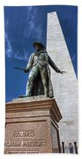Prescott Statue On Bunker Hill Beach Towel