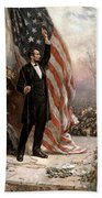 President Abraham Lincoln Giving A Speech Beach Towel by War Is Hell Store