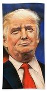 President Donald Trump Portrait Beach Towel