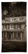 President James Buchanan's Wheatland In Sepia Beach Towel