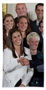 President Obama Honors Us Womens Soccer Team At White House #1 Beach Towel