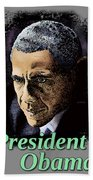 President Obama Beach Towel