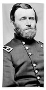 President Ulysses S Grant In Uniform Beach Towel by International  Images
