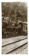 President William Mckinleys Presidential Locomotive No. 1456  May 1901 Beach Towel