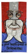 Presidential Tooth 2 Beach Towel by Anthony Falbo