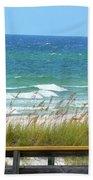 Pretty Blue Gulf Beach Towel