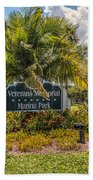 Pretty Garden Beach Towel