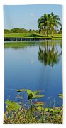 Tranquil Lake In Florida Beach Towel
