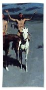 Pretty Mother Of The Night White Otter Is No Longer A Boy 1900 Beach Towel