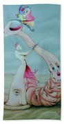 Pretty Noose--the Choking Halo Beach Towel