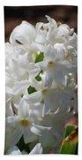 Pretty White Hyacinth Flower Blossom Flowering Beach Towel