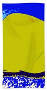 Pretty Yellow Fish Beach Towel
