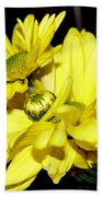 Pretty Yellow Flowers Beach Towel